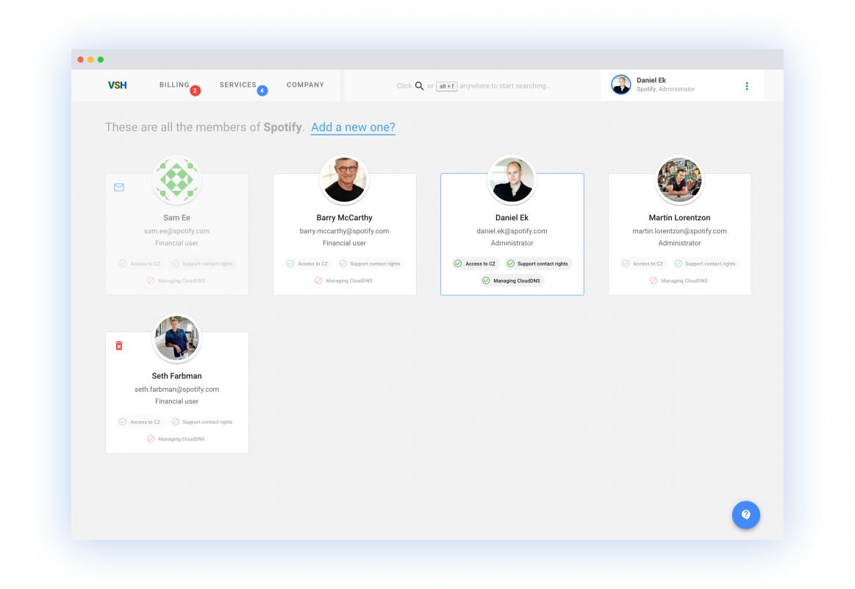 Uživatelské účty v nové klientské zóně